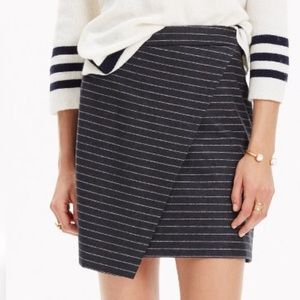 Madewell Asymmetrical Striped Skirt